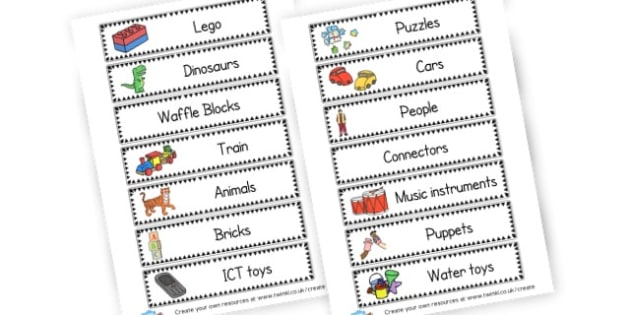 Toy Drawer Labels - Drawer & Peg Name Labels Primary Resources, Name Label, Label, Peg