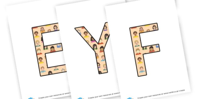 EYFS - display lettering - Display Lettering Primary Resources, cut out, letters, display
