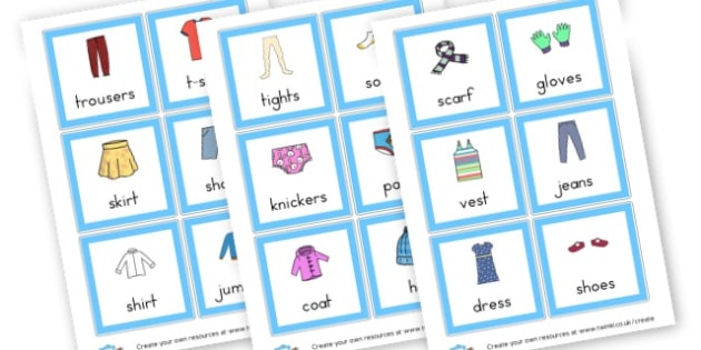 Clothes EAL Cards - Clothes Activities Primary Resources, clothes, shoes, colouring,