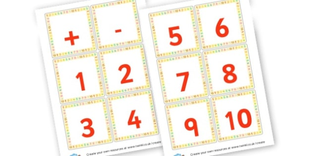 Numbers Cards - Calculation Primary Resources, maths, add, subtract, calculation