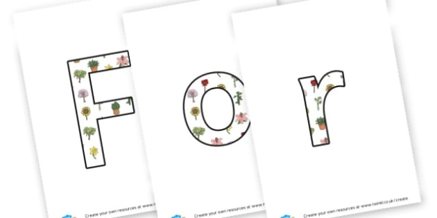 Forest School banner - display lettering - Outdoor Area Primary Resources, outdoors, PE, signs, visual aids