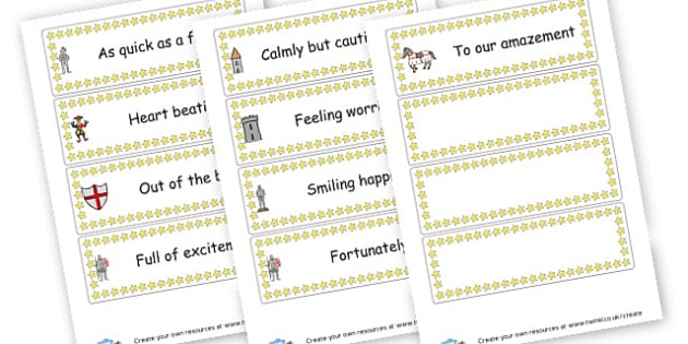 Spectacular Sentence Starters Cards - KS2 Writing Aids, Writing