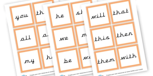 Phase 3 High Frequency word cards - Phase 3 Visual Aids Primary Resources, Phase One, Letters, sounds