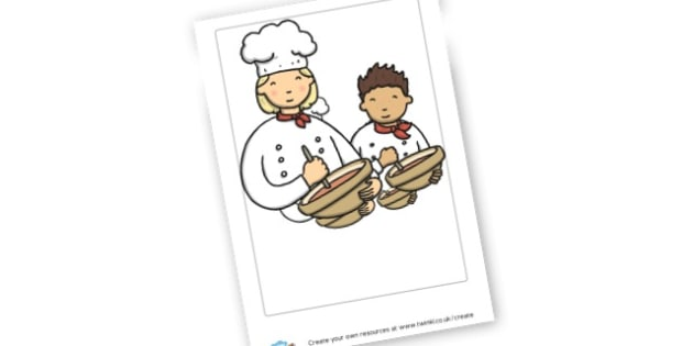 Cooking Poster - Cooking Area Primary Resources, sign, area, zones, banner, poster