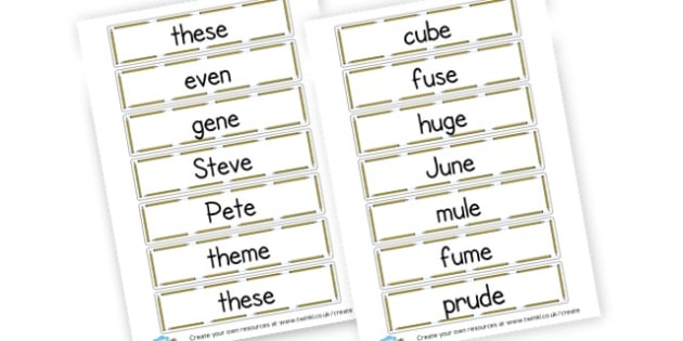 Split Diagraph Cards - Letters and Sounds Phase 5 Primary Resources, Phase Five, phonics