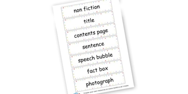 Non Fiction Features - KS2 Story Writing Aids, Story Writing, Literacy, KS2 English