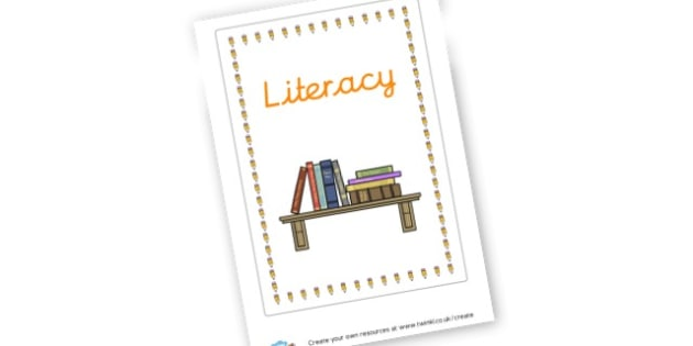 Literacy Sign - Literacy Area Classroom Signs and Labels, Literacy Signs, Literacy