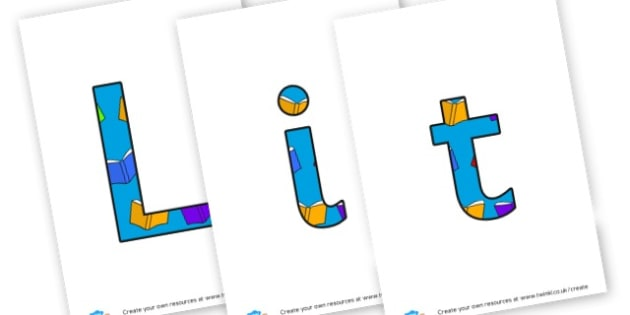 Literacy Display Lettering