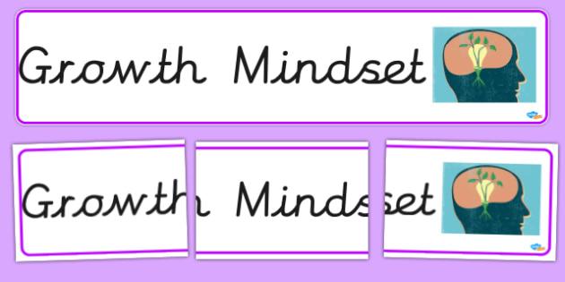 Growth Mindset Banner