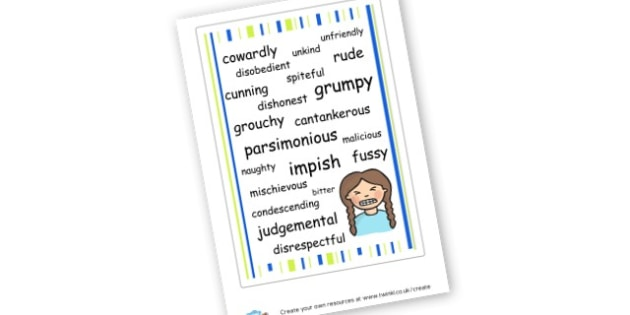 Negative Personal Traits Poster - Relationships Primary Resources, Relationships, Bullying, Friends