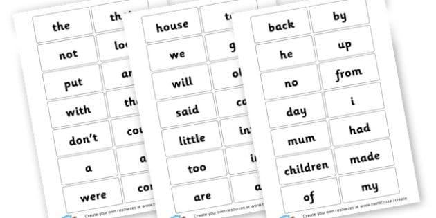 First 100 HF words - High Frequency Words Visual Aids Primary Resources, letters, frquency