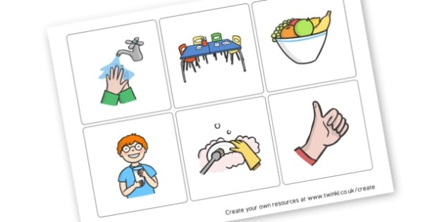 Snack Time Routine Cards - Everyday Activities, Resource, Home School, Craft Ideas, Children