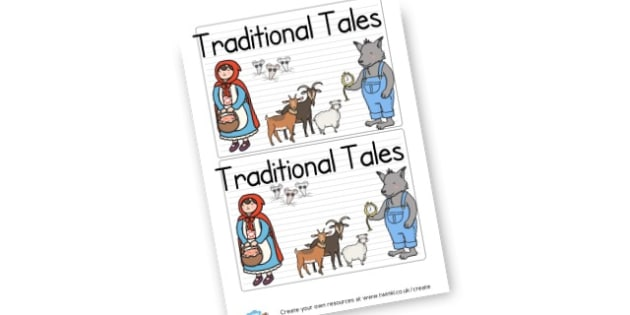 Traditional Tales Story Sack Tag - General Traditional Tales Primary Resources,  Traditional Tales