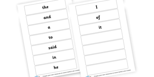 High Frequency Words Set 1 - High Frequency Words Activites Primary Resources, letters, sounds