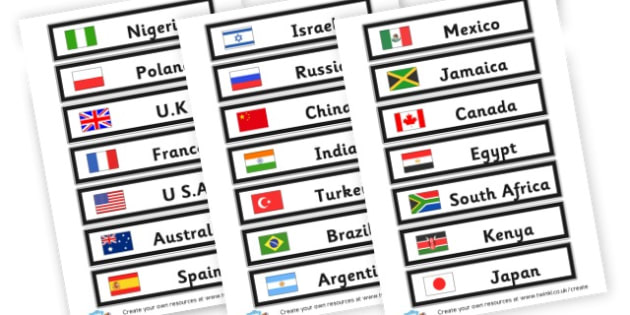 Countries list labels - Countries Primary Resources, city, sights, country, USA, Australia
