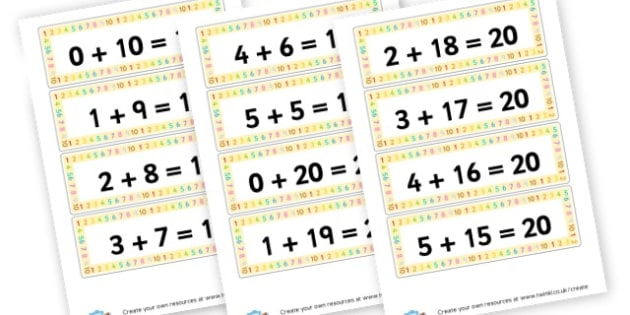 Number Bond Display Captions Cards - Number Bonds Primary Resources, counting, bond, count, number pair