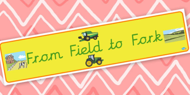 From Field to Fork Banner - display lettering - Classroom Signs and Labels Themed Banners Primary Resour