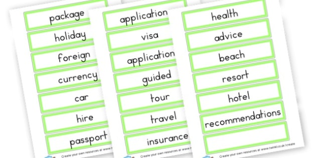 travel agent services - Travel Agents Primary Resources, travel agent, role play, area