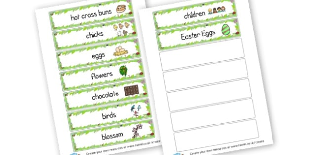 Easter key words - Easter Literacy Primary Resources, easter, letter, sounds, phonics