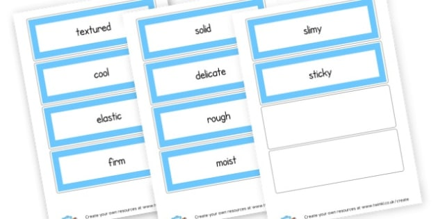 Touch Words Cards