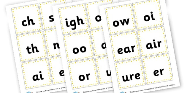 Phase 3 Phonics Cards - Phase 3 Visual Aids Primary Resources, Phase One, Letters, sounds