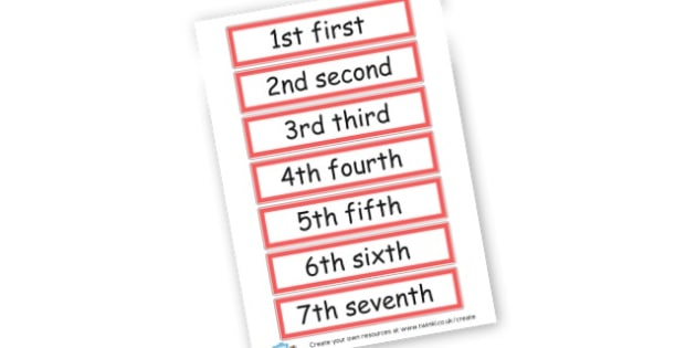 Ordinal Number & Word Cards - Ordinal Numbers Primary Resources, ordering, numeracy, activities