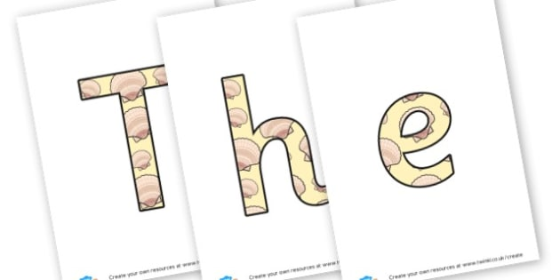 the seaside - display lettering - The Seaside Display Primary Resources, beach, sun, sand