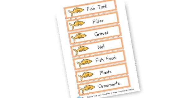 Fish Tank Words - display lettering - Aquarium Role Play Primary Resources, Aquarium, Fish, Role Play