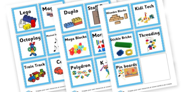 Toy box labels - Classroom Labels Primary Resources, book label, resource label