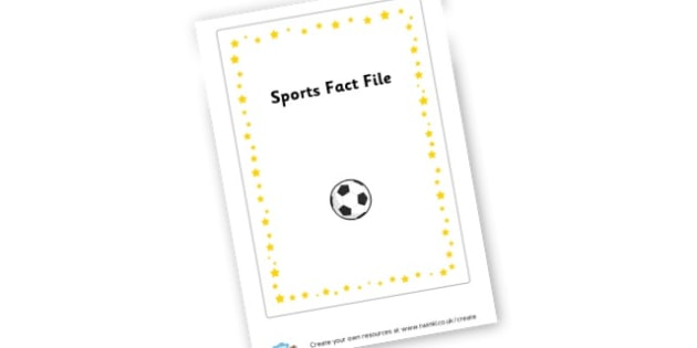 Sports Fact File Book Cover - PE & Sports, Literacy, PE and Sports Primary Resources, Sports, P