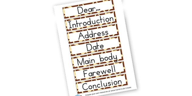 Features of a letter letters postcards and cards primary features of a letter letters postcards and cards primary resources writing templates spiritdancerdesigns Choice Image