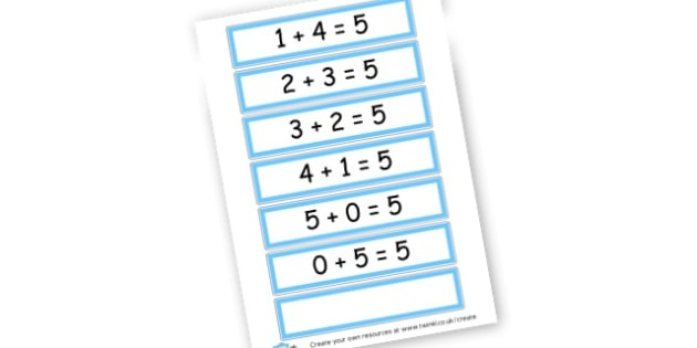 Number Bonds to 5 Cards - Number Bonds Primary Resources, counting, bond, count, number pair
