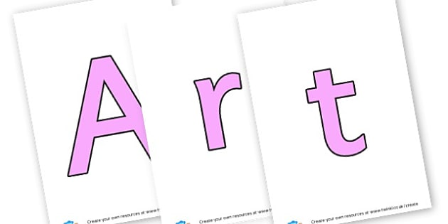 Art Music Drama - display lettering - Creative Area Primary Resources, sign, area, zones, banner, poster
