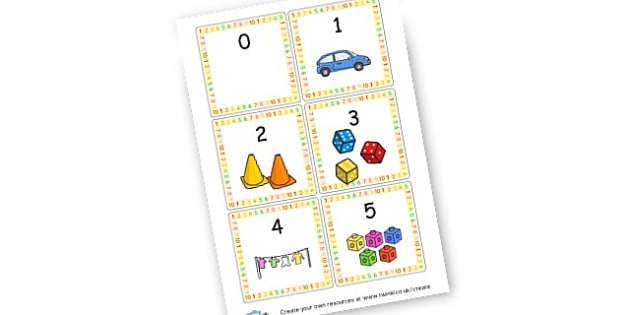 Numbers 0-5 Matching Cards - Number Counting Activity Primary Resources, count, flashcards