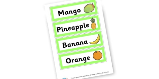 Fruit Mat - Fruit and Vegetables Primary Resources, fruits, healthy eating