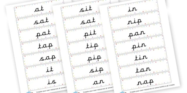 Phase 2 words large print - Phase 2 Visual Aids Primary Resources, Phase One, Letters, sounds