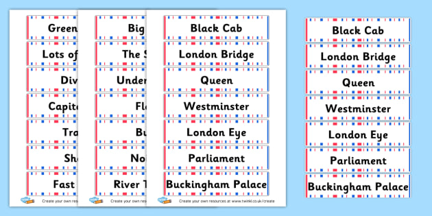 London - display lettering - London Primary Resources, olympics, bus, city, England, sights