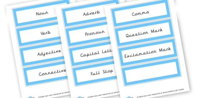 Grammar - Grammar Visual Aids Primary Resources, grammar, aids, activities