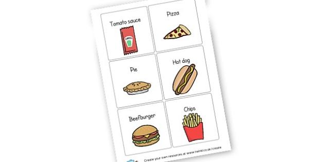 Fast Food Display - KS2 Food, Topics, Food, Food Groups, Recipes, KS2 Topics