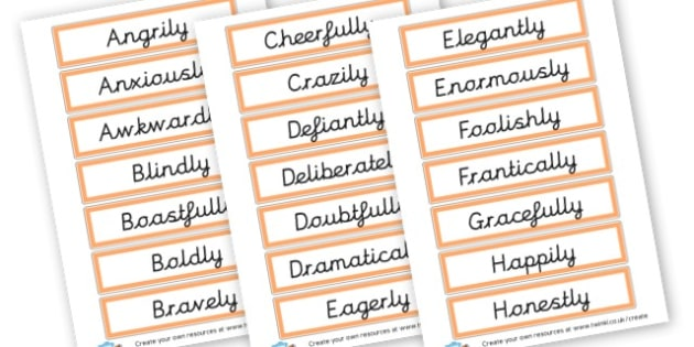 Adverbs Cards - KS2 Verbs and Adverbs Primary Resources, Verbs ...