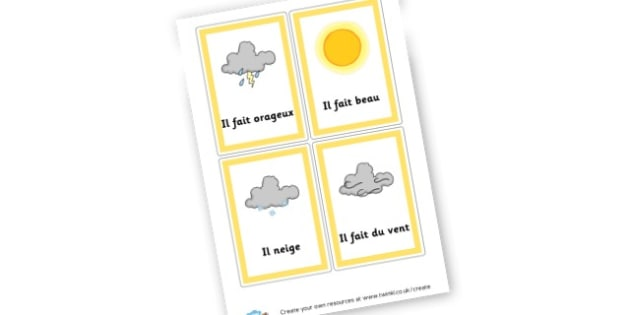 French weather - French Display Primary Resources,  French, Display, Languages