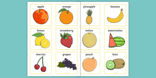 fruit vocabulary cards fruit and vegetables literacy primary resources. Black Bedroom Furniture Sets. Home Design Ideas