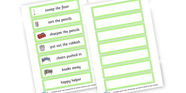 Classroom Jobs - Pupil Jobs and Responsibilities, Pupil Jobs, Responsibilities, Work