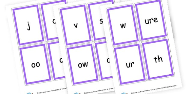 Phase 3 Cards - Phase 3 Visual Aids Primary Resources, Phase One, Letters, sounds