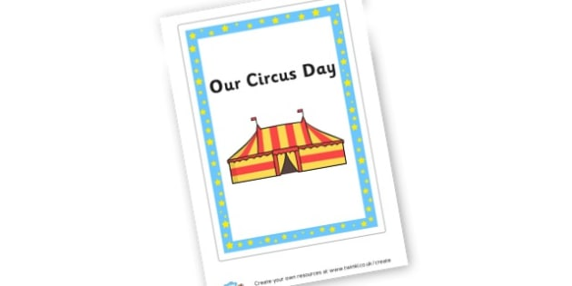 Circus Day Book Cover - The Circus Literacy Primary Resources, circus, clown, trapeze