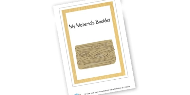 Materials Booklet Cover - Materials Literacy Primary Resources -  Primary Resources, materi