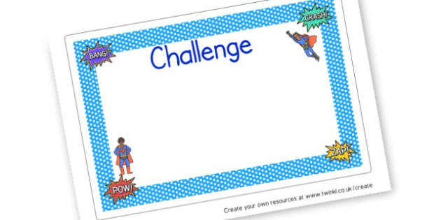 Challenge - Superheroes Activities Primary Resources,  Superheroes, Activities