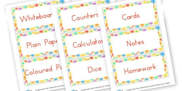 Classroom Equipment Labels - Resource Labels Primary Resources, resource, label, drawer labels