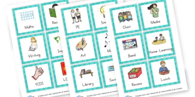 Class Activities - Visual Timetables Primary Resources, visual, timetables, routine