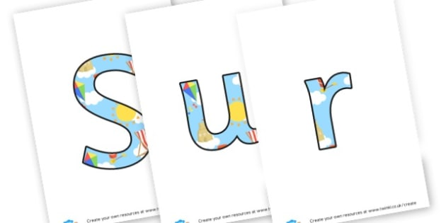 Surfers cafe sign - display lettering - The Seaside Roleplay Primary Resources, beach, sun, sand